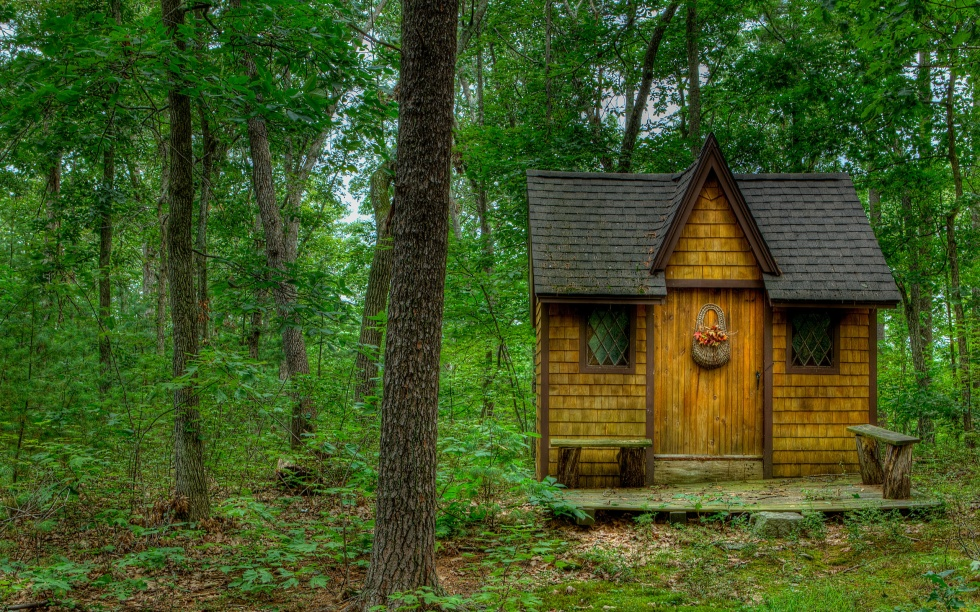 small dark house